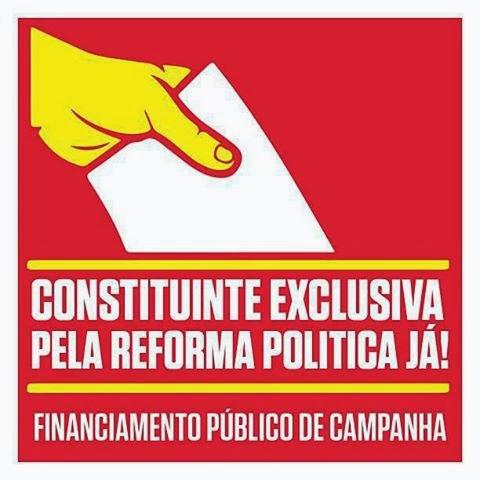 Só uma Assembléia Constituinte Exclusiva  eleita pelo povo fará mudanças pra melhor na Política Brasileira